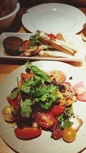 Pulpo and razor clams! I love Tapas . Food Food Porn Foodphotography EyeEm Best Shots Delicious
