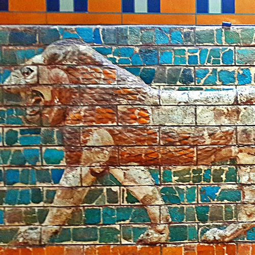 Ancient Ancient Architecture Babylon Backgrounds Brick Wall Craftmanship Creativity Gate History Ishtar Gate Lapis Lion Lions Gate.  Museum Symbol Textured  Wall Wall - Building Feature