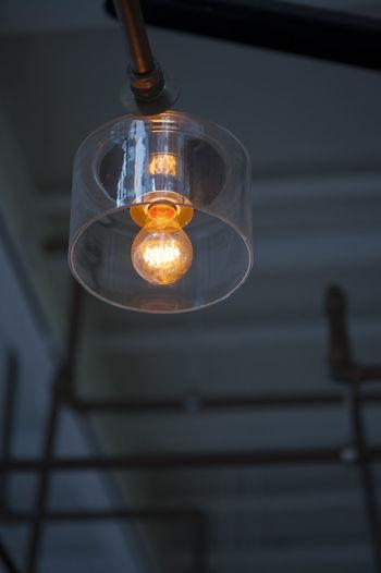 Low angle view of lit light