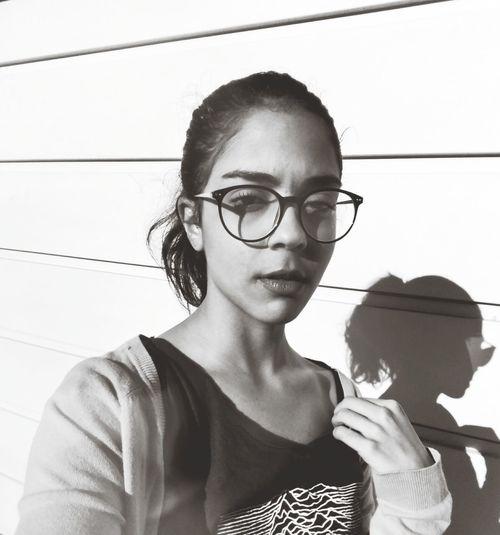 Young Women Portrait Headshot Beautiful Woman Eyeglasses  Close-up