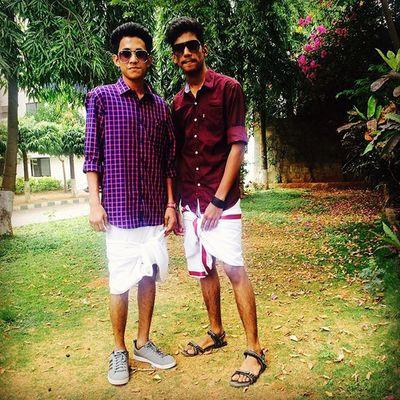 Yeeha! Mundu Onam Celeberation College Loveditsomuch Ethnicday Fun Panikitti Maroon Friends