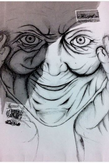 Recent drawing of mine Sketch Mark Powell Elderly Lady Wrinkles