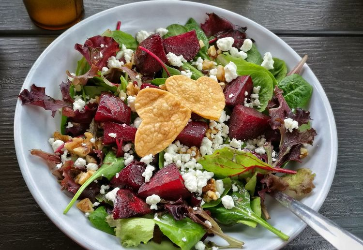 Food Plate Salad Healthy Eating Freshness Ready-to-eat Food And Drink Organic Food Lifestyles Brunch Hearty Food Heart Shape Love Food, Love Life.  Happy Meal Love For Cooking Happy Eating Happy Eat Green Beet Beetsalad
