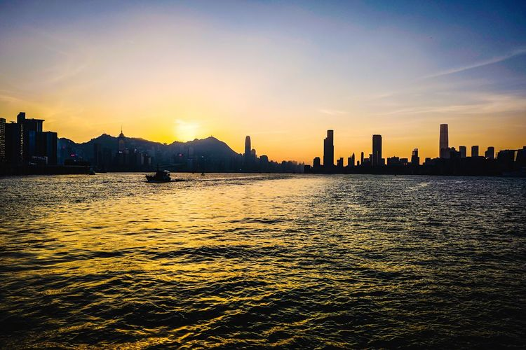 Reframinghk Discoverhongkong Sky Building Exterior Architecture Sunset Built Structure City Water Building Urban Skyline Sunlight Nature Office Building Exterior Waterfront Silhouette Cityscape Landscape Skyscraper No People Reflection Outdoors