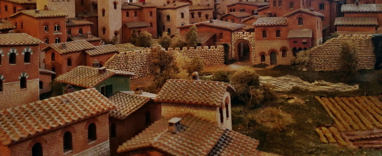 Aerial View Architecture Backgrounds Building Building Exterior Built Structure City Day High Angle View History House Nature No People Outdoors Residential District Roof Roof Tile Street The Past Town TOWNSCAPE Travel Destinations