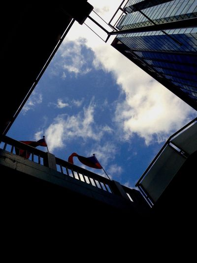 Above the flag of Taiwan. IPhoneography Sky_collection EyeEmBestEdits EyeEm Best Shots