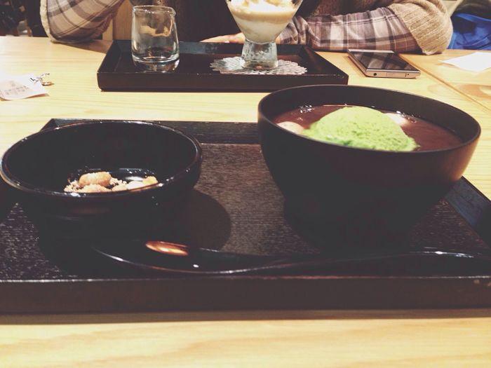Japanese Food Umeda Japan Sweet EyeEm EyeEm Best Shots ぜんざい 甘い しらたま 抹茶アイス Yummy