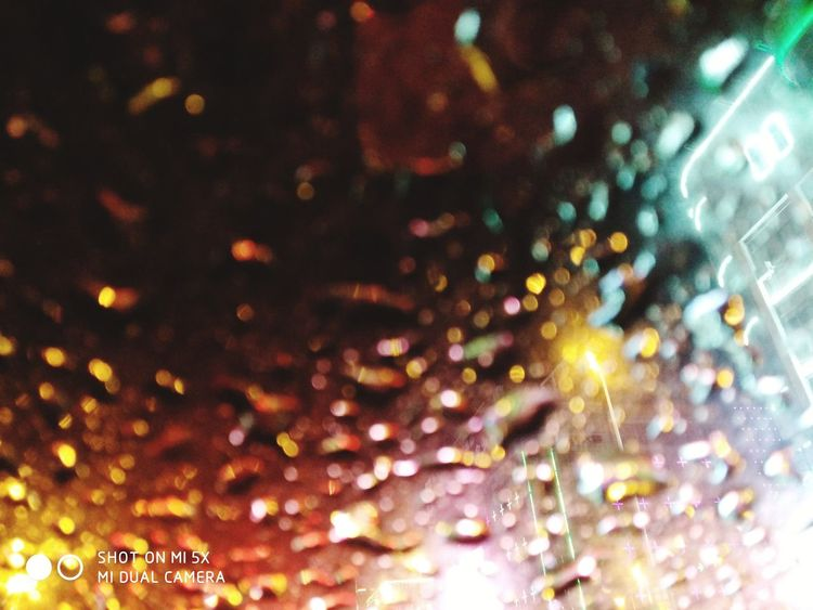 Night Rainy Night Raindrops City Lights