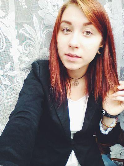 Girl That's Me Short Hair Redhead Lips Slovakiagirl Slovakgirl Slovakia Greeneyes Depphead