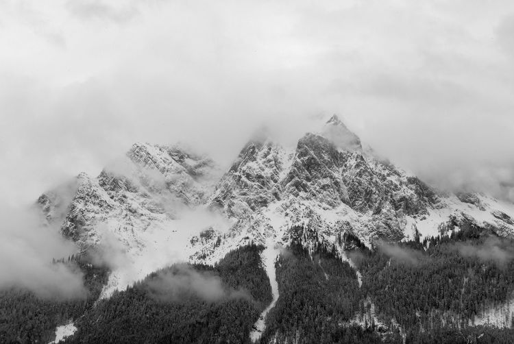 Winter Enjoying The Moment Black And White Nature Quiet Moments Bavarian Alps Black & White Silence Power In Nature Backgrounds Scenics Alps Bavaria Waxenstein Grainau Bavarian Landscape Travel Outdoors Non-urban Scene Tranquility Mountains Snowcapped Mountain Trees Scenic Landscapes Tree Mountain Forest Sky Landscape Cloud - Sky