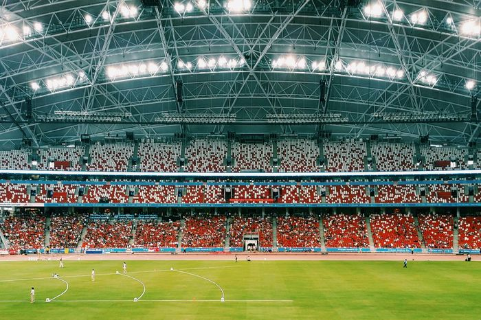 National Stadium Vscocam NationalStadium  Stadium Football Soccer Game Running Sprinting Atheletics Seagames2015