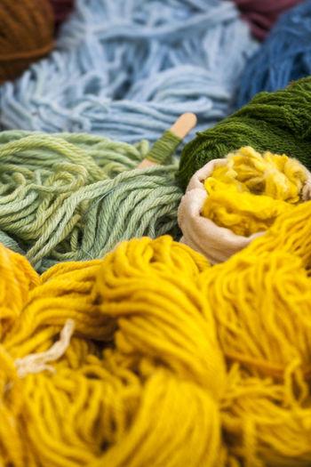 Close-Up Of Woolen Threads
