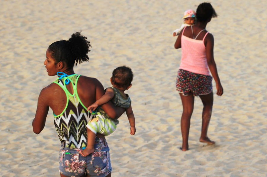 Beach Capo Verde Child Childhood Close-up Day Friendship Mothers And Children Outdoors Sal Island Sand Santa Maria Standing Summer 2015 Togetherness Vacations Walking