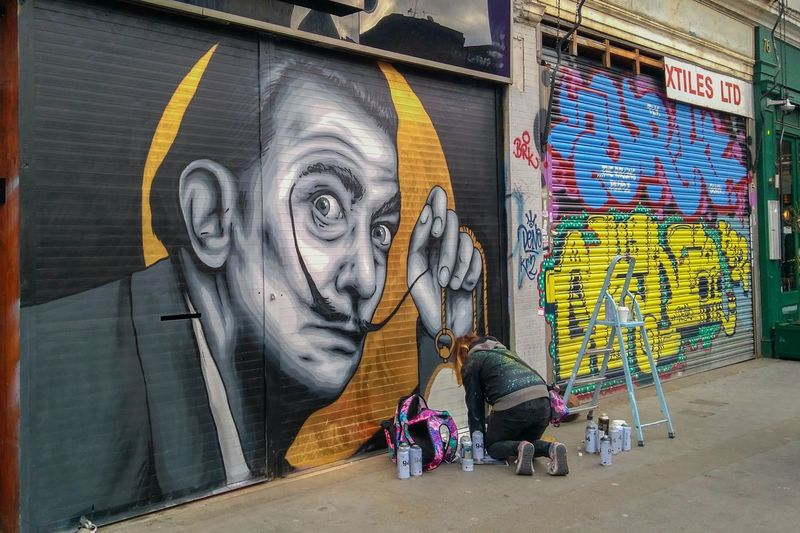 Art And Craft Travel Captured Moment Capture The Moment Travelling Capturing The Moment East Side Brick Lane Brick Lane, London Brick Lane Market London United Kingdom England 🇬🇧 England, UK ArtWork Art Art, Drawing, Creativity Artist Dalí Salvador Dali