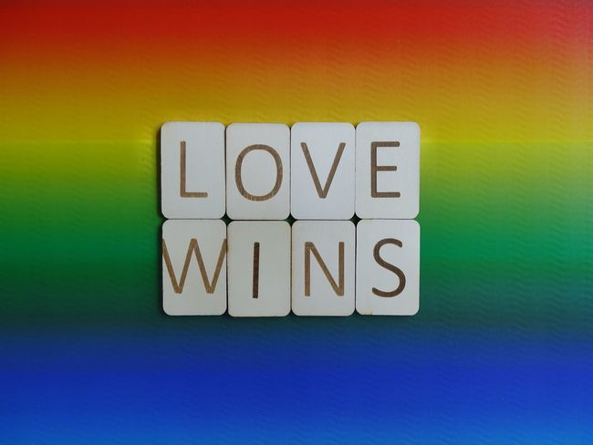 Love wins Letters Typography Wooden Letters Wooden Quoteoftheday Quote Sentence Words To Live By  Words Rainbow Colors Rainbow Multi Colored Love Wins Love Pride Lgbt Pride Lgbt Text Communication Yellow No People Multi Colored Close-up Indoors
