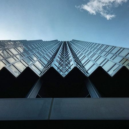 Reverse vertigo. Look up. Perspective Symmetry Architecture Toronto