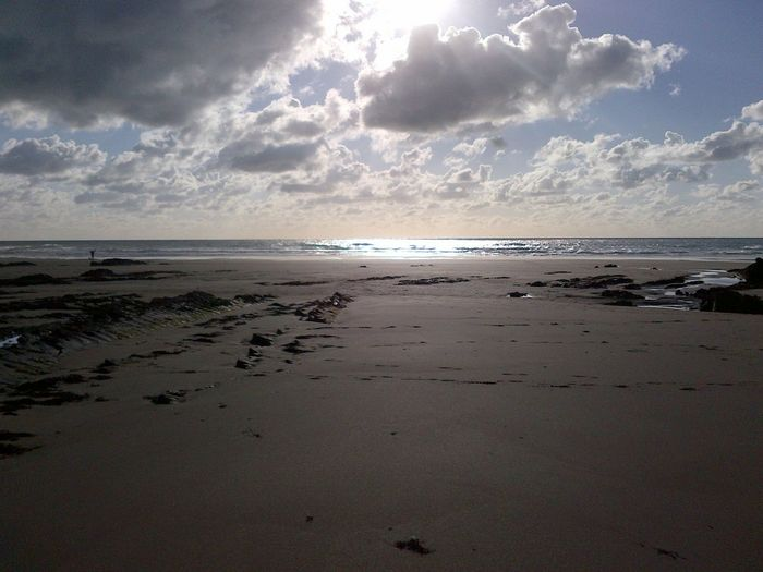 Sea Beach Horizon Cornwall Sand Beauty In Nature Sky Clouds Sunlight Outdoors Scenics No People EyeEmNewHere EyeEmNewHere