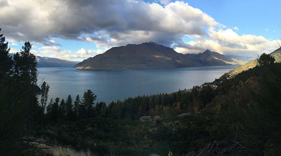 Lake Wakatipu from Ben Lomond Forest Tiki Trail intersection.