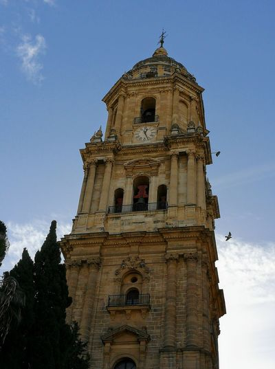 Cathedral of Málaga Tower Of Church Architecture Sky Ascent Civilization Travel Destinations