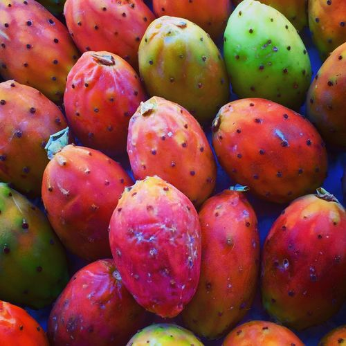 Food And Drink Food Healthy Eating Red Freshness Abundance Large Group Of Objects For Sale Retail  Market Fruit Full Frame Consumerism Backgrounds Still Life Sale Ripe Selling Business Close-up prickly pears Cactus Flower beauty Fruitporn Nature Red