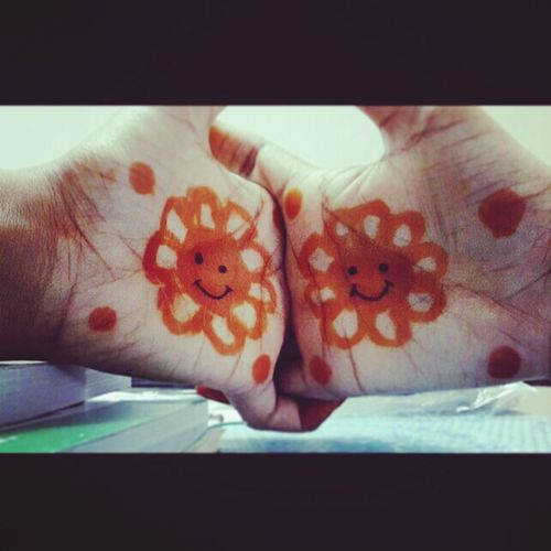 Mehandi ... Simple... U&ME ❤ #cute Shivi:)