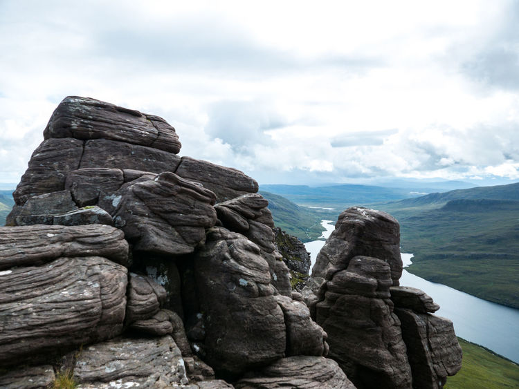 At The Top Hiking Loch  On Top Of The World Rock Scotland Above Beauty In Nature Cloud - Sky Clouds Day Highlands Of Scotland Lac Lumix Lx100 Nature No People Outdoors Rock - Object Scenics Sky Tranquil Scene Tranquility