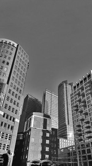City Architecture Skyscraper Cityscape Urban Skyline Monochrome Blackandwhite 070 Urbanphotography Den Haag Urban Geometry No People Built Structure Low Angle View City Life