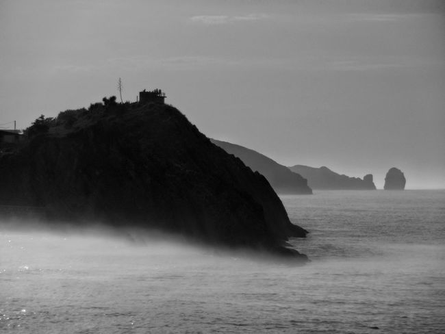 Llanes. Nature Outdoors Water Tourism Travel Destinations Bnw_of_our_world Bnwphotography Bnw_captures Bnw_collection Beauty In Nature Beach sea Sea And Sky Seascape