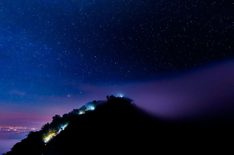 Mountains and stars Astronomy Beauty In Nature Constellation Galaxy Low Angle View Milky Way Mountain Nature Night No People Outdoors Scenics Silhouette Sky Space Star - Space Star Field Starry Tranquil Scene Tranquility