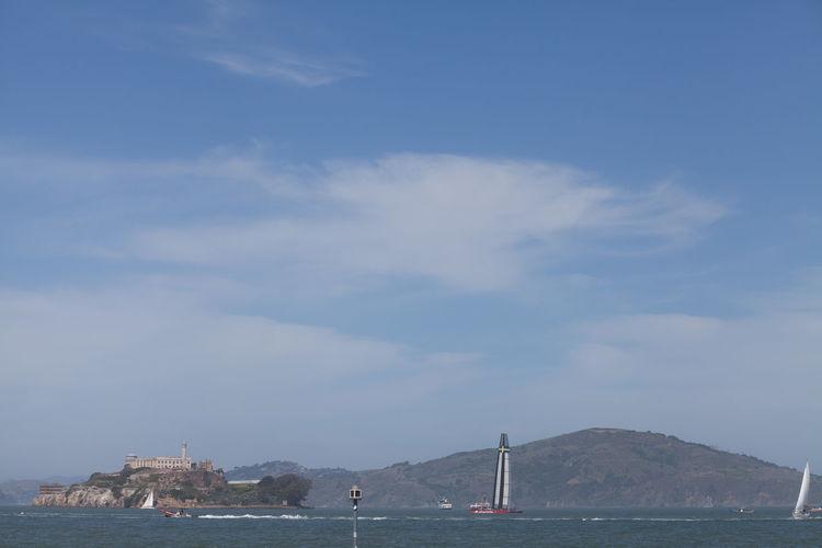 View Of Alcatraz Island In Bay