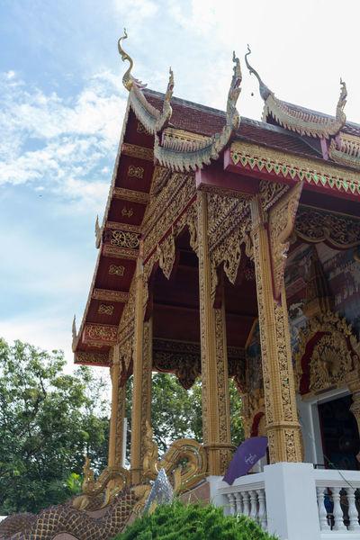 Chiang Mai | Thailand Lanna Temple Sky And Clouds Temple Thailand Wat Doi Kham Wat Thai