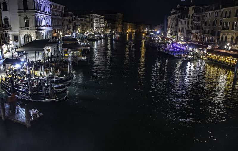 Canal Grande Architecture Building Building Exterior Built Structure Canal City Gondola - Traditional Boat Illuminated Mode Of Transportation Moored Nature Nautical Vessel Night Nightlife Outdoors Passenger Craft Reflection Transportation Water Waterfront The Traveler - 2018 EyeEm Awards HUAWEI Photo Award: After Dark