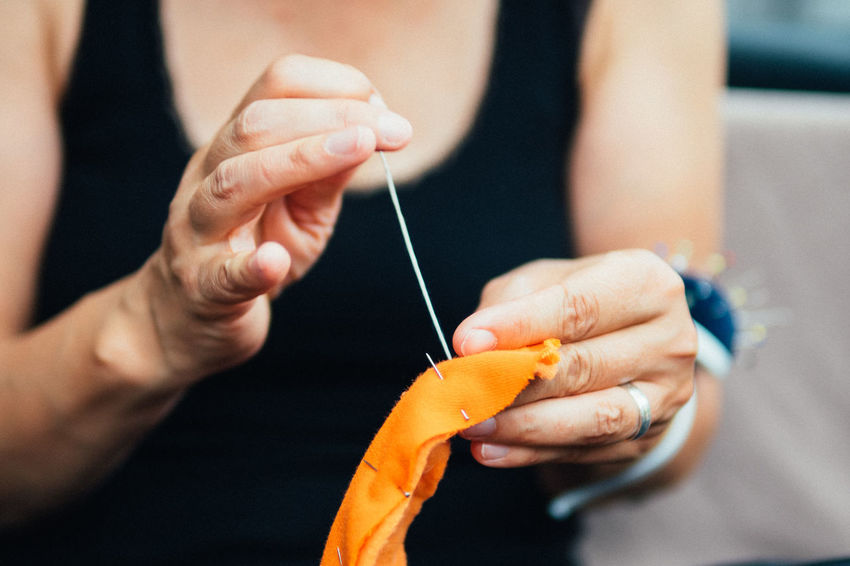 making monsters (sewing) Art And Craft Close-up Day DIY Focus On Foreground Handmade Homemade Human Body Part Human Hand Indoors  Knitting Needle Making Monster Needle One Person Real People Sewing Skill  Wool Working Live For The Story