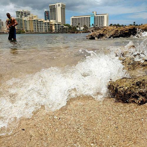 Photography In Motion Sanjuan Puerto Rico Marimar Condado Beach Waves Ocean Sand Randomguy Condado Plaza Hilton