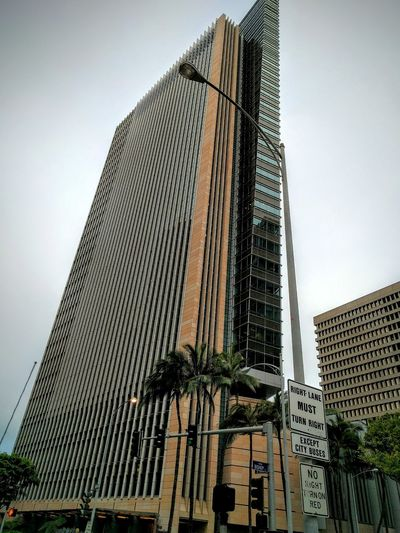 first hawaiian center Taking Photos Eyeemgallery Honolulu, Hawaii Tall Buildings Toobig Learn & Shoot: Balancing Elements My Photography What I See Visiting My Home Town Eye4photography  Playing Tourist Buildings & Sky Financial District  Eyeemphotography Urban Landscape Gray Sky Taking Photos My City Oahu, Hawaii No People Geometric Shapes Modern Architecture