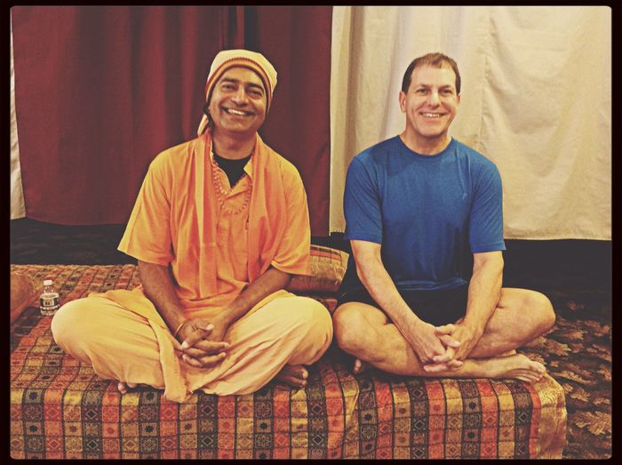 Yoga with SwamiMahesh the wandering Yogi from India in Siliconvalley