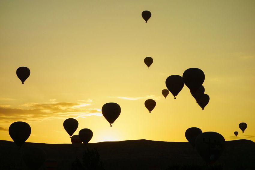 The Great Outdoors - 2015 EyeEm Awards Hotairballoons The Moment EyeEm Best Shots EyeEm Nature Lover Adventure Cappadocia Turkey Paint The Town Yellow See The Light