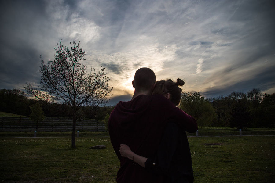 TOGETHER Beautiful Clouds Couple Cuddles Light Love Nature Relationship Sharing A Moment Silhouette Sky Sun Sunset Togetherness Tree Two People Two Persons