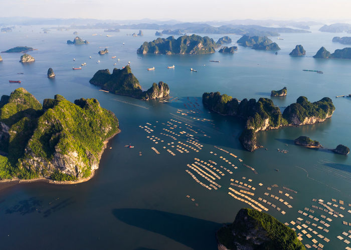 Aerial Shot Bai Tu Long Bay Ha Long Aerial Aerial Landscape Aerial Photography Aerial View Aerialphotography Aerialview Beach Beauty In Nature Day Ha Long Bay High Angle View Horizon Over Water Nature No People Outdoors Scenics Sea Sky Tranquil Scene Tranquility Travel Destinations Water