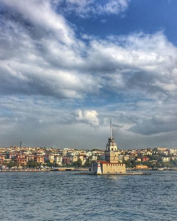 Sky Sea Bosphorus Cloud - Sky Cityscape Maiden Tower Architecture Freshness Clear Weather