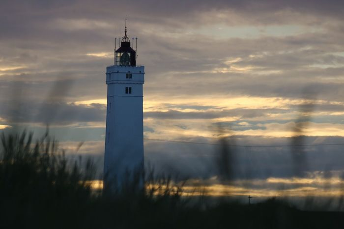 Lighthouse in Blåvand Denmark in Summer 2017, Leuchtturm Dänemark Sky Sunset Cloud - Sky No People Nature Himmel Sonnenuntergang Gegenlicht Backlight Romantic Dunes Dünen Stimmung Mood
