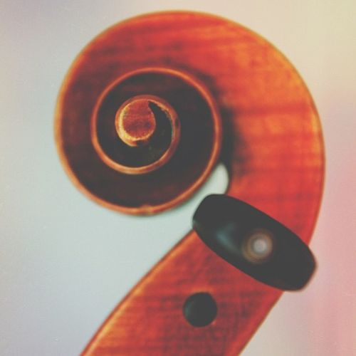 """Inspiration is a guest that does not willingly visit the lazy."" - Peter Ilyich Tchaikovsky (sadly enough, I haven't come up with something abstract-worthy for the #jj forum yet...(yet)) this is my viola scroll. #viola #scroll Scroll Classical Tchaikovsky Wood Music Stripes Brown Viola Jj  Altexpo Igersmissouri"