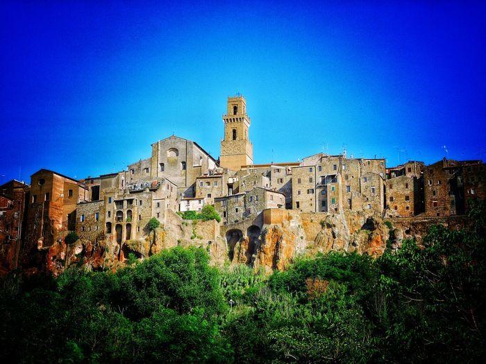 Toscany Toscana Architecture Italianvillage Pitigliano Italy House Paesi Italiani Tufo