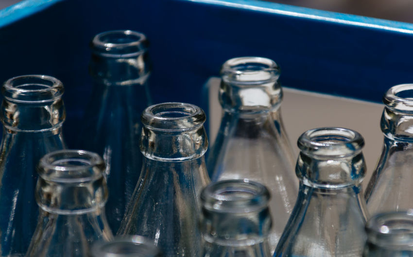 Bottle Glass - Material Transparent Close-up Indoors  No People Glass Group Of Objects Food And Drink Arrangement In A Row Household Equipment Still Life Large Group Of Objects Drinking Glass Container Empty Choice