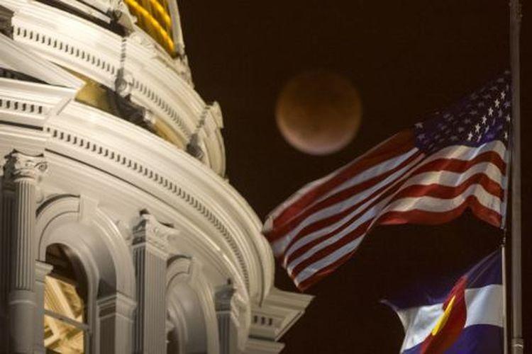 Estampa de la superluna en Denver Colorado 🌑 9/27/15