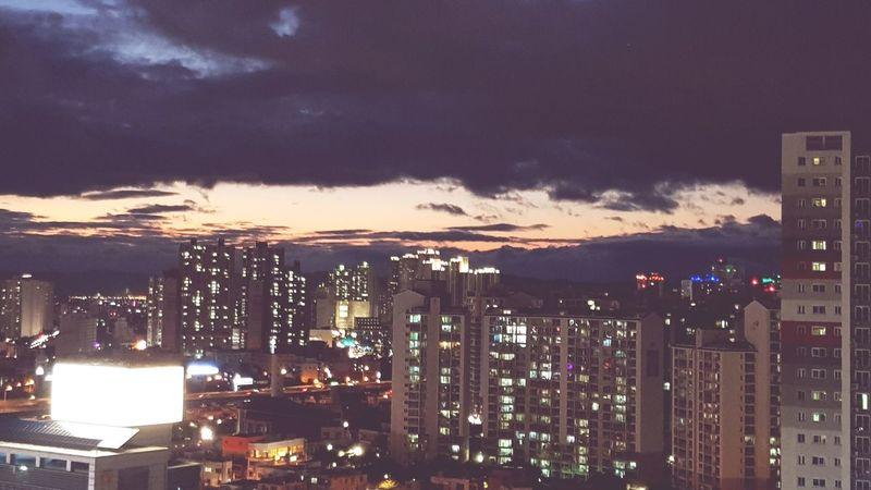 Night City Urban Skyline Cloud - Sky