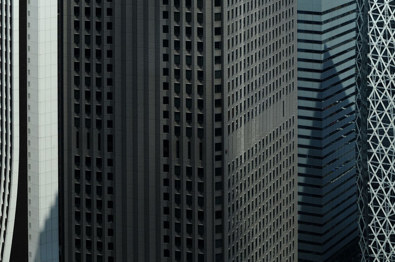 Full frame shot of office buildings