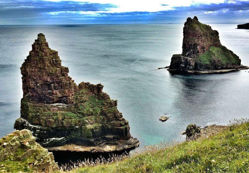 Scotland Travel Landscape Seascape Stacks Of Duncansby Caithness Rocks