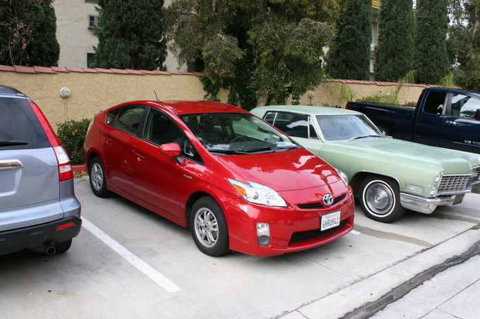 Red 2010 Toyota Prius Car Anaheim Anaheim, CA Car Day Hybrid Cars Hybrid Drive Land Vehicle No People Outdoors Parking Lot Parking Spot Red Red Car Rental Car Road Stanton  Toyota Toyota Prius Transportation
