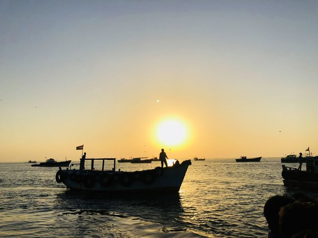 fishermen's life!! Picoftheday Landscape Landscape_Collection Landscape_photography Beyond_thehorizons Sunset Sea Horizon Over Water Beach People Fisherman Beauty In Nature Scenics Men Nature Clear Sky Sky EyeEmNewHere Colour Your Horizn